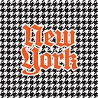 Houndstooth Orange and Black New York City by Map-Your-World