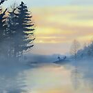 Lake and trees Landscape  by Soualigua