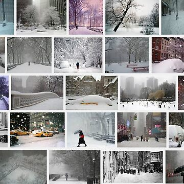 NY, New York, Snow, Collage, Adaptation, Winter, winter, snow, window, cold, outdoors, frost, nature, horizontal, no people, modern, water, non-urban scene, day by znamenski
