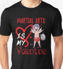 Kampfkunst ist mein Valentinsgruß-Shirt Slim Fit T-Shirt