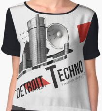 Detroit Techno - AutoArchitecture Chiffon Top