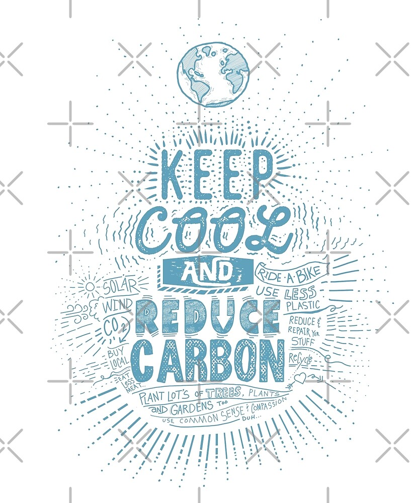 Keep Cool and Reduce Carbon Earth in Cool Blue by jitterfly