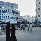Symbols on the wall (3) - falling evening in old Al Mukalla by Marjolein Katsma