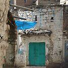 Symbols on the wall (7) - street corner in Ibb by Marjolein Katsma