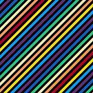 Rainbow Stripes with Black by Gravityx9
