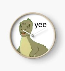 Yee [dinosaur maym :^)] (version 1, video quality, black text) Clock