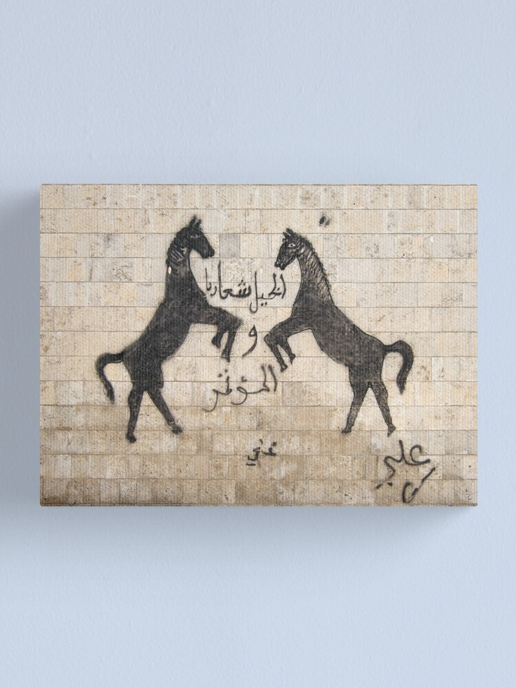 Alternate view of Symbols on the wall (22) - wall in At Tawila Canvas Print