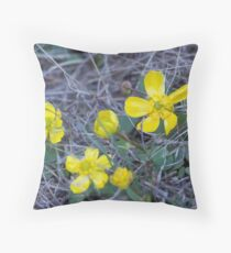 Sagebrush Buttercup Throw Pillow