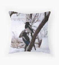 Spring Snows Throw Pillow