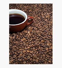 Coffee beans cup coffee Photographic Print