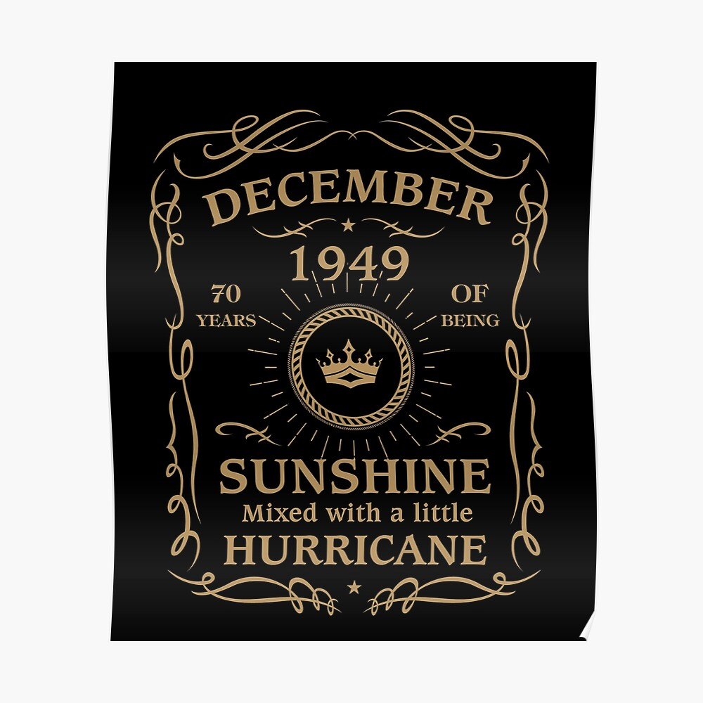 December 1949 Sunshine Mixed With A Little Hurricane Poster