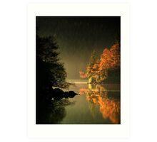 Loch Ard Autumn Glow Art Print