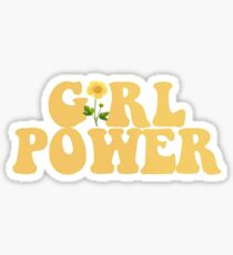 girl power yellow Sticker