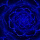 Blue Textile Rose by Barbara A Lane
