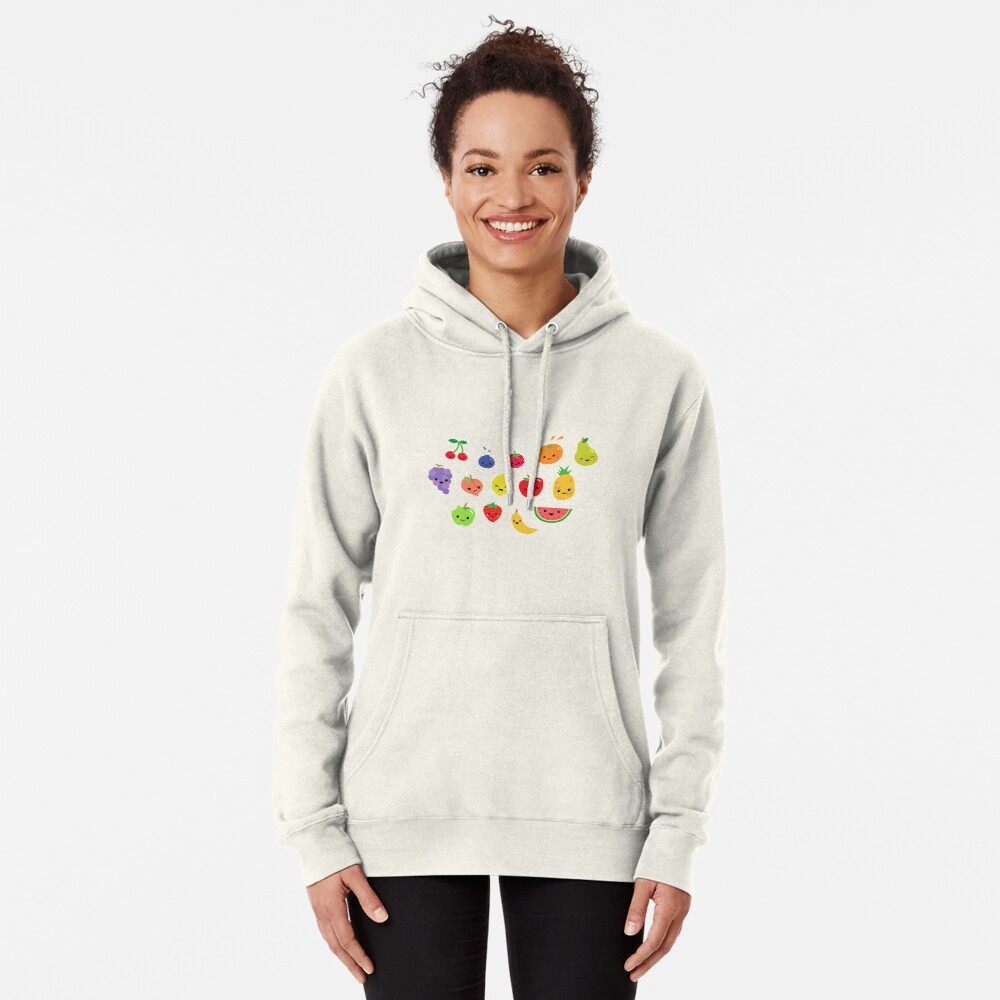 Happy Fruit- Design  Pullover Hoodie