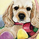 Cocker Spaniel Easter Puppy by Charlotte Yealey