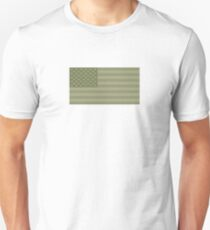 Camo Stars and Stripes – USA Flag Military Camouflage Colors Unisex T-Shirt