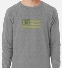 Camo Sternenbanner - USA Flagge militärische Camouflage Farben Leichtes Sweatshirt