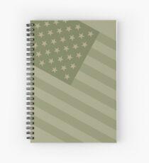 Camo Sternenbanner - USA Flagge militärische Camouflage Farben Spiralblock