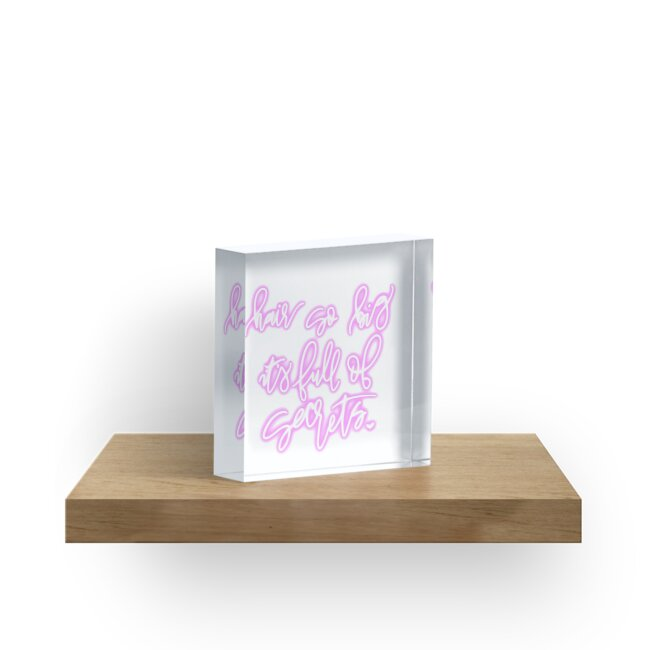 Hair So Big Its Full Of Secrets Mean Girls Quote Acrylic Blocks By