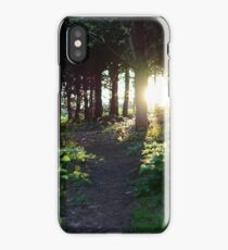 Sun down through the woods iPhone Case
