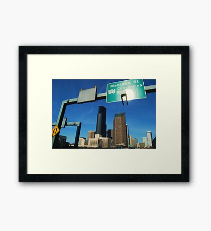 Freeway to Seattle Framed Print