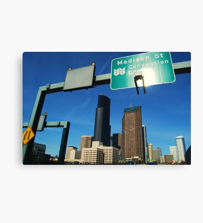 Freeway to Seattle Canvas Print
