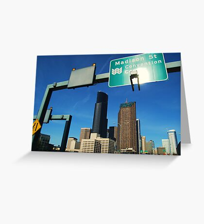 Freeway to Seattle Greeting Card