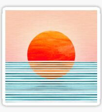 Minimalist Sunset III Sticker