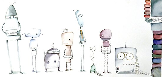 Robot Roll Call by Natalie Banker