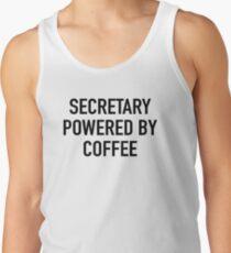 Secretary Powered By Coffee Men's Tank Top