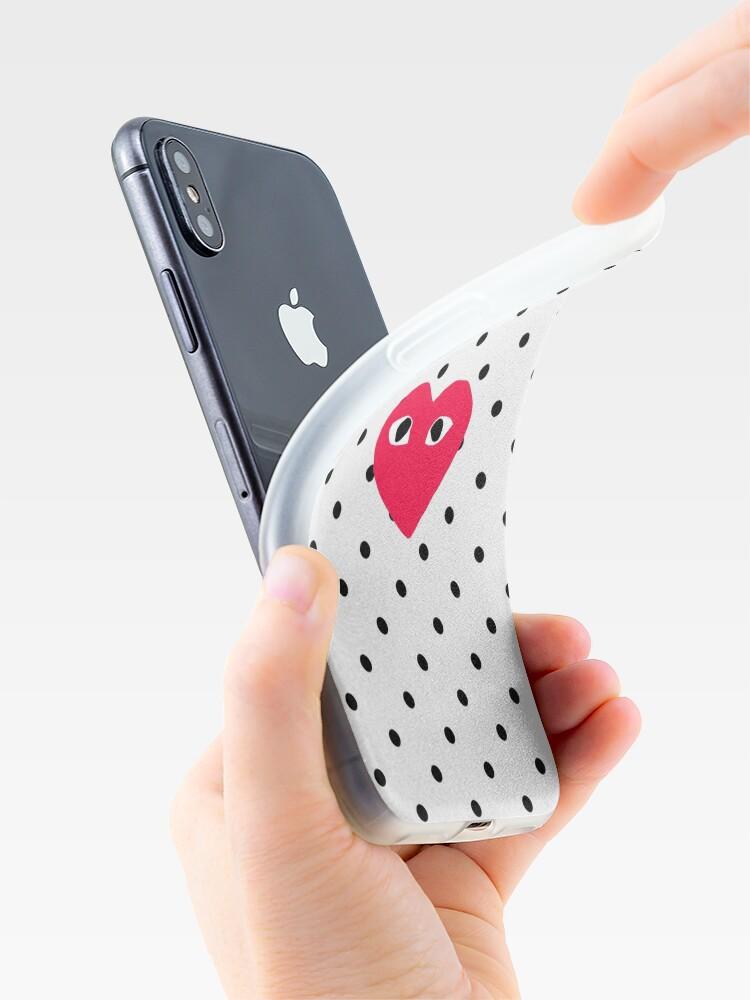 Alternative Ansicht von comme des garcons Polkadot iPhone-Hülle & Cover