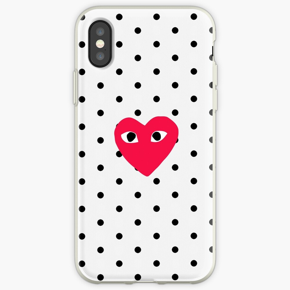 comme des garcons Polkadot iPhone-Hülle & Cover
