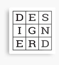 Design Nerd Metal Print