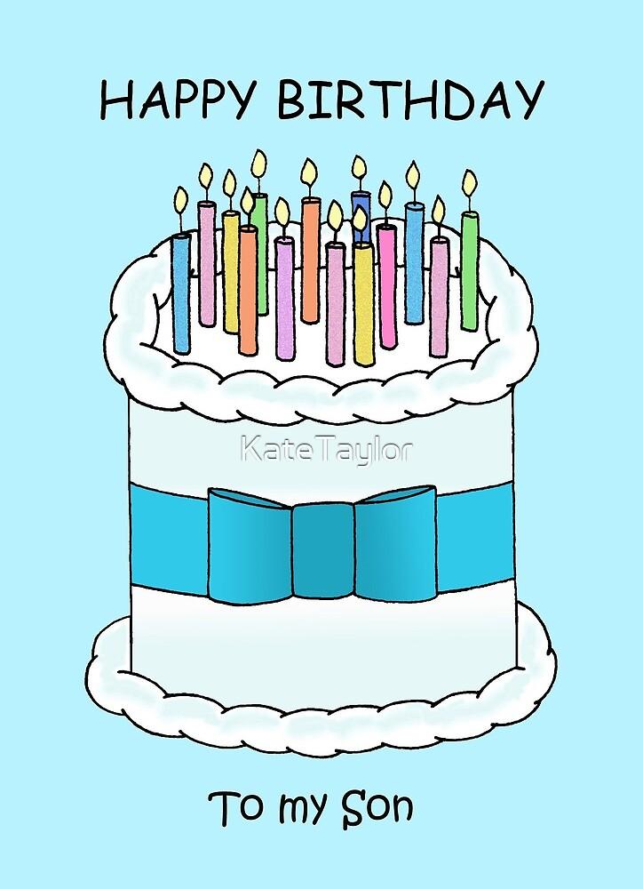 Joyeux Anniversaire à Mon Fils Gâteau De Dessin Animé Et