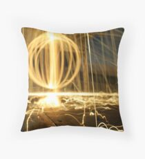 Blaising Bokeh Throw Pillow