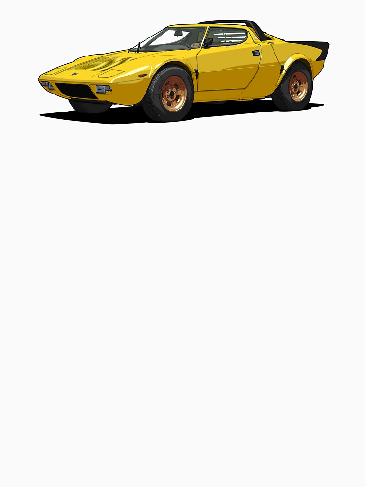 Lancia Stratos HF Stradale Giallo Fly by DigitalCel