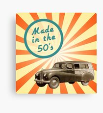 Made in the 50s Canvas Print