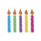 Dotty birthday candles by lizmaydesigns