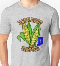 BORN BRED CORN FED INDIANA (brown) T-Shirt