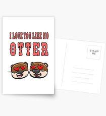 Otter - I love you like no otter Postkarten