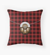 Clan Cummingham Tartan And Sporran Throw Pillow