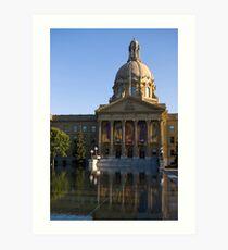 legislature reflected Art Print