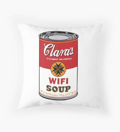 Wifi Soup Throw Pillow