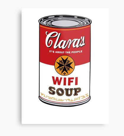 Wifi Soup Metal Print