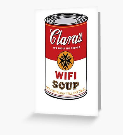 Wifi Soup Greeting Card