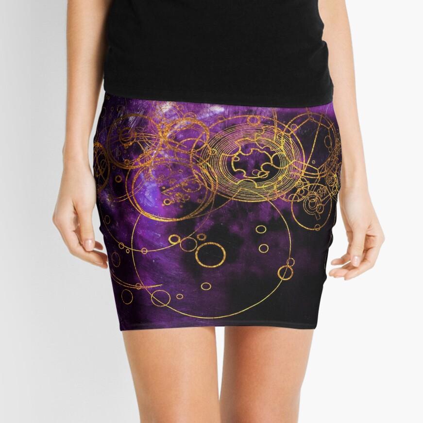 Time Lord Writing (purple) Mini Skirt