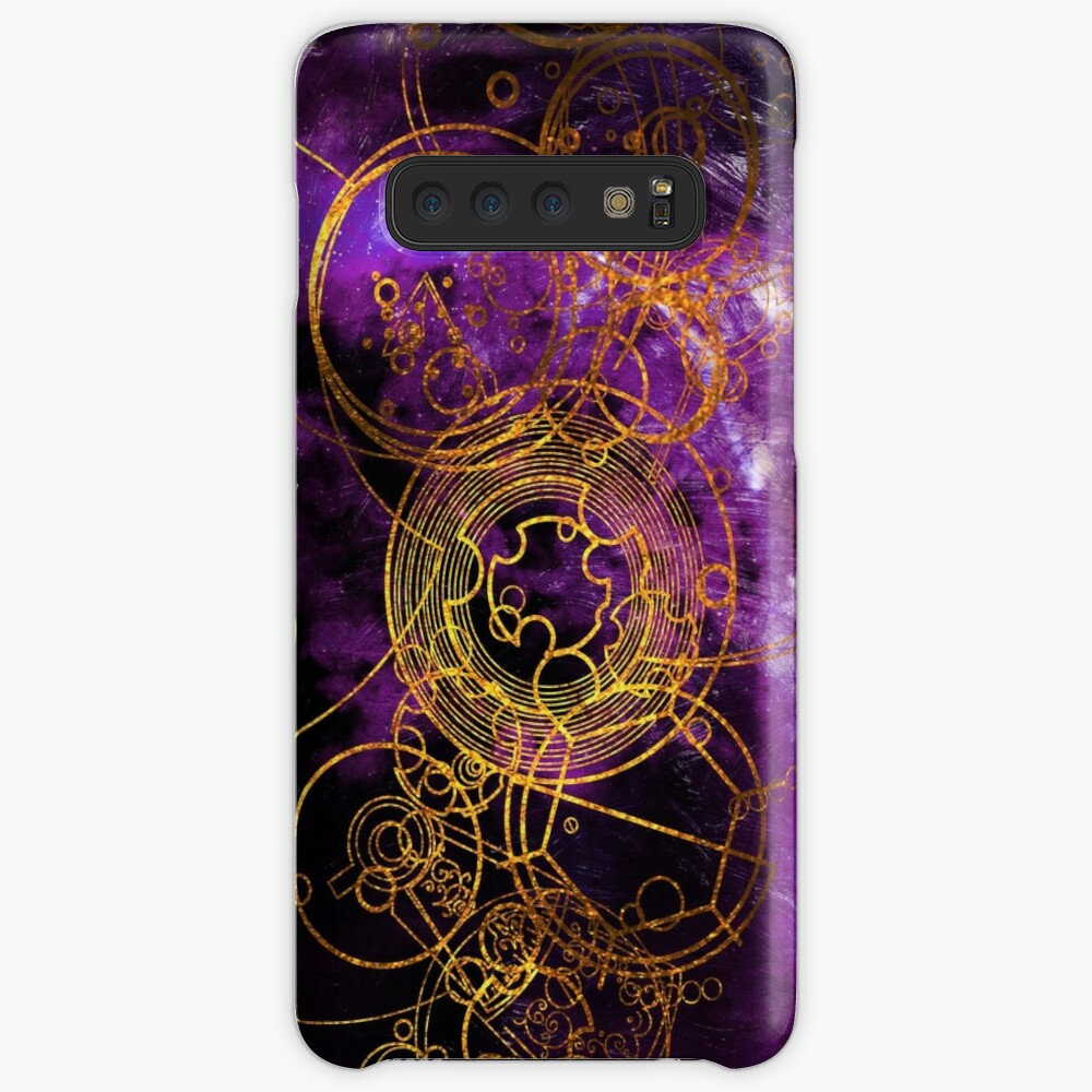 Time Lord Writing (purple) Case & Skin for Samsung Galaxy