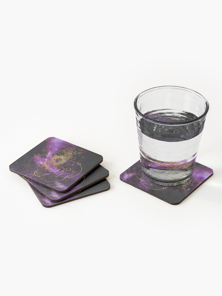 Alternate view of Time Lord Writing (purple) Coasters (Set of 4)