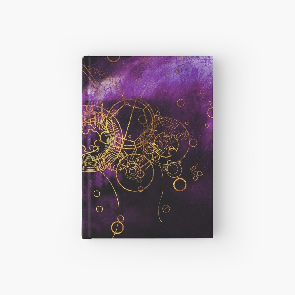 Time Lord Writing (purple) Hardcover Journal
